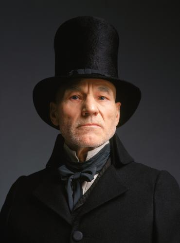 Ebenezer Scrooge, as played by Sir Patrick Stewart in a 1999 adaptation.