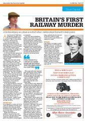 Britains first railway murder