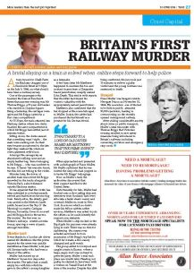 Britains first railway murder