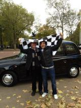 Patrick and Me with Flag