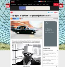 Perfect cab passengers