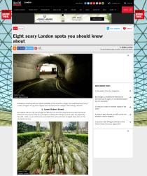 Scary London spots