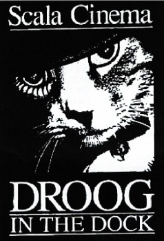 A 1993 campaign logo made during the Scala's legal battle. The cat refers to the Scala's very own moggy which used to walk across movie-goers during the middle of screenings! (Image: PDX Films)
