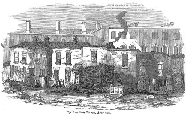 A Victorian depiction of the Agar Town slum...
