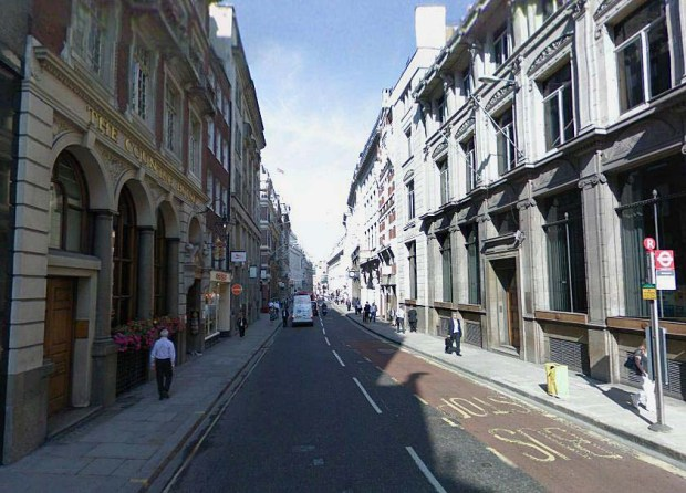 Cornhill today (image: Google Streetview).