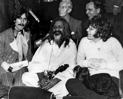 The Beatles with Maharishi Mahesh Yogi in 1967.