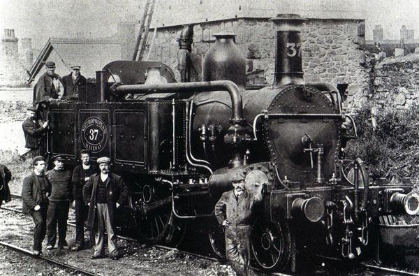 An early Metropolitan steam engine (image: Watchet Museum).