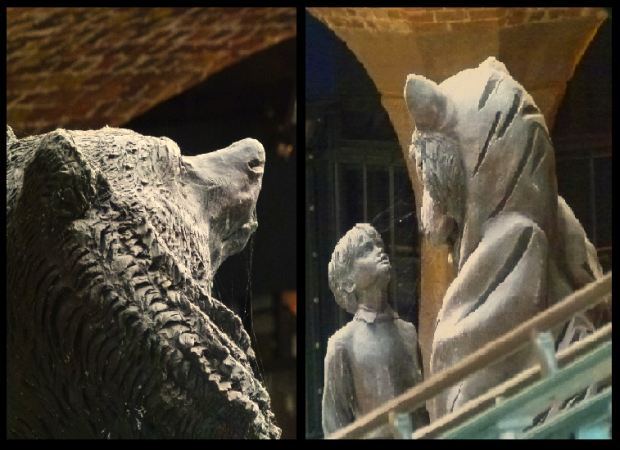 Tobacco Dock's animal statues.