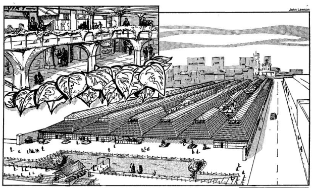 1986 artist's impression of the Tobacco Dock revamp (image: Copyright Sunday TImes)
