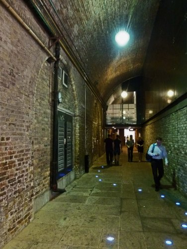 Steelyard Passage which runs beneath Cannon Street Station.
