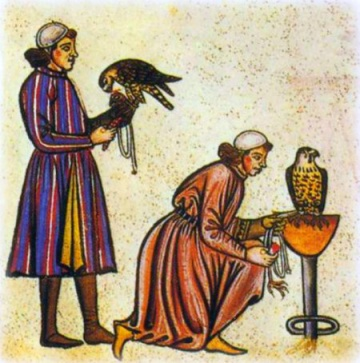 Medieval falconers (Image: aboutfalconry.com)