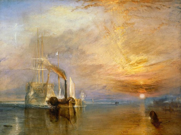'The Fighting Temeraire' by Turner, 1839.