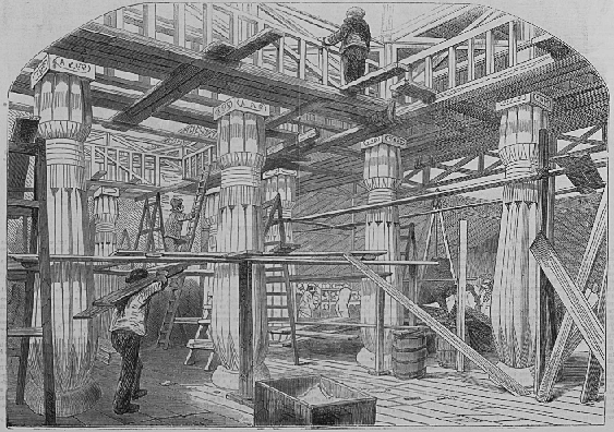 Reconstruction work, pictured in an 1854 edition of the 'London Illustrated News'.