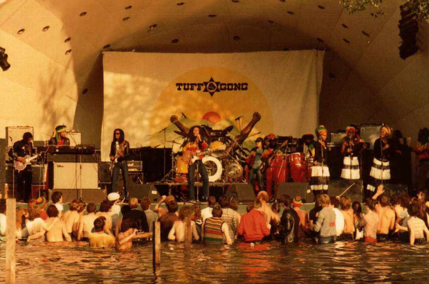 Bob Marley performing at Crystal Palace Park, June 7th 1980 (image copyright Tankfield, via ukrockfestivals.com).