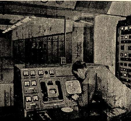 The transmitter's control bunker, 1957 (image: The Times).