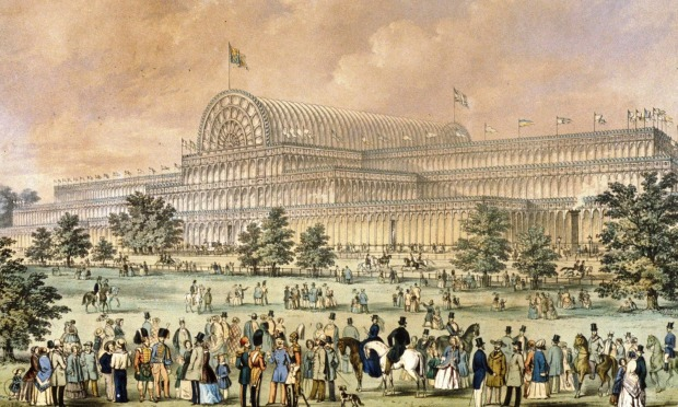 The Crystal Palace in its original location; the south-eastern corner of Hyde Park.