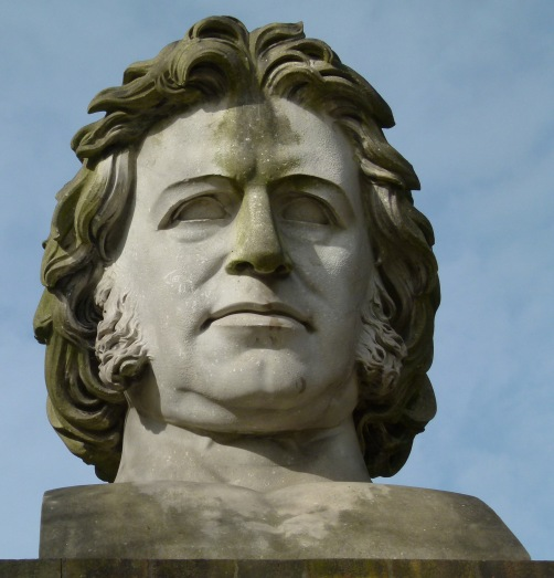 A huge bust of Sir Joseph Paxton, which can seen in Crystal Palace Park.