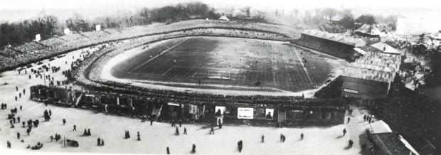 Crystal Palace Park stadium, 1905 (image: Wikipedia).