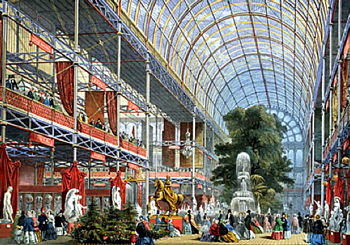 Inside The Great Exhibition.