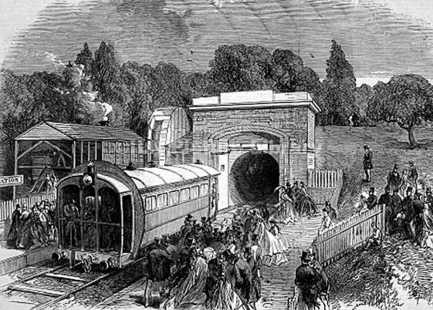Crystal Palace Pneumatic Railway.