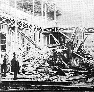 Aftermath of the deadly scaffold collapse. (Image: Sydenham & Forest Hill history).