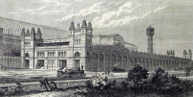Crystal Palace High Level station, 1865. (Image: London Illustrated News).