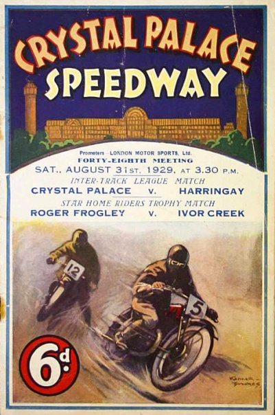 A 1920s Crystal Palace Speedway program (image: Mullocks auctions).