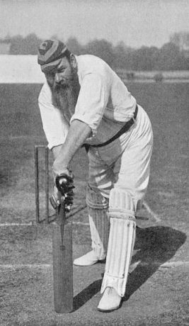 W.G Grace, who tired his very best to get a cricket team up and running for Crystal Palace (image: Wikipedia).