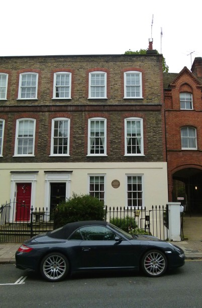 180 Ebury Street (the home with the black door was once occupied by the Mozart family).