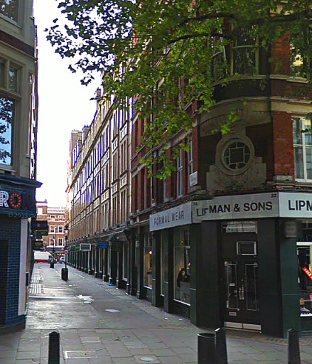 Cecil Court today (image: Google Streetview).