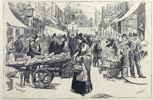 Clare Market, The Illustrated London News, September 1891.