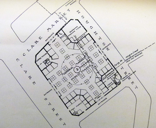 The 1890s proposed floor plan for Clare Market.