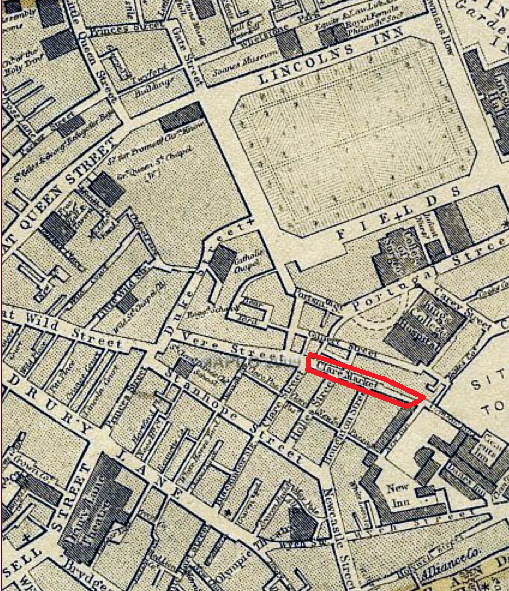 Location of the former Clare Market.