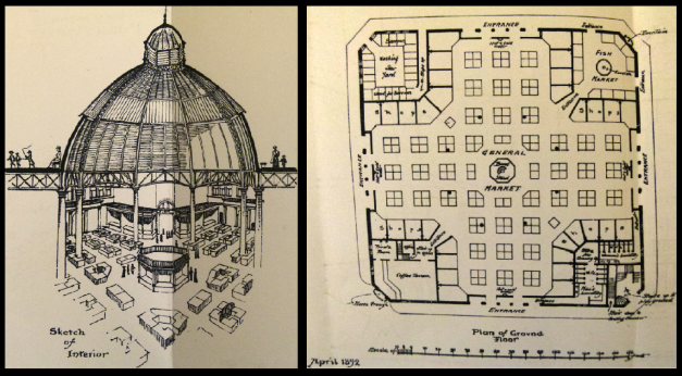 The proposed dome and floor plan for Strutton Ground market.