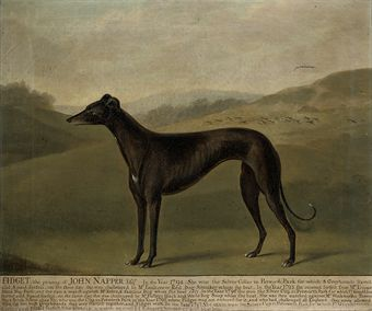 An 18th century Greyhound (image: Christies).