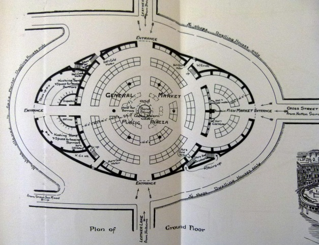 Floor plan of the proposed Leather Market.