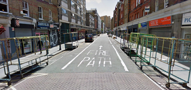 A quiet Leather Lane today (image: Google Streetview).