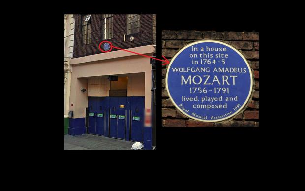 Mozart's Frith Street, Soho.