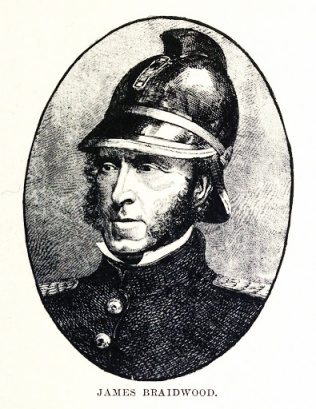 James Braidwood; the London Fire Brigade's very first director who died in the line of duty.