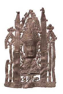 A pilgrim badge from Canterbury.