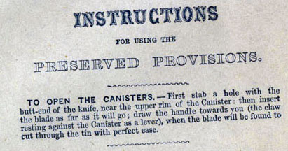 Opening instructions from a tin sold by Fortnum & Mason (image: BBC).