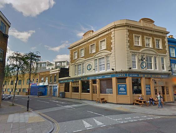 Blue Anchor Lane today (image: Google Streetview).