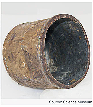 An early Donkins' can. (Image: Science Museum via the BBC).