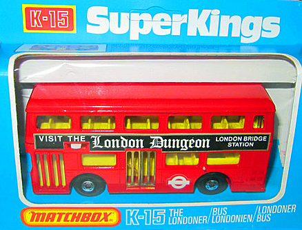 A toy bus from the late 1970s, advertising the recently opened London attraction.