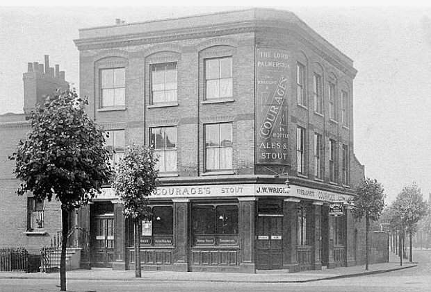 The now vanished Lord Palmerston on Lucey Road, pictured during the 1930s. (Image: Pubhistory.com)