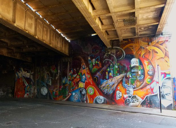 Mural beneath the Linsey Street arches.