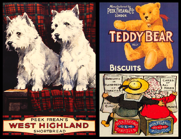 A colourful selection of adverts from Peek Frean's heyday.