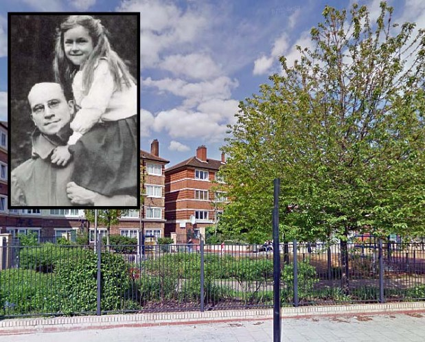 Salter Park... the image in the corner is Doctor Salter with his daughter, Joyce.