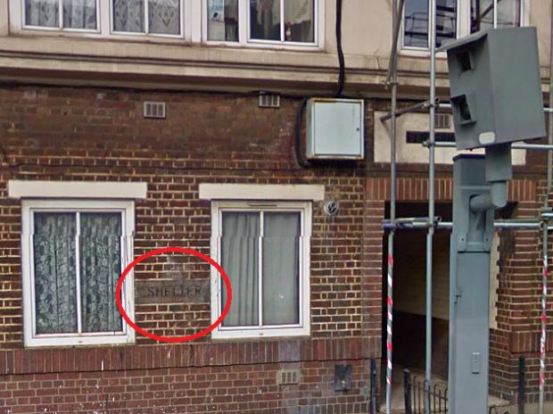 Shelter sign on the St John's Estate (image: Google Streetview).