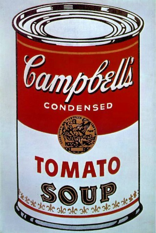 Andy Warhol's famous 1962 'Campbell's Soup Can'... which, in a roundabout way, may not have existed if it were not for Bryan Donkin's Bermondsey plant!